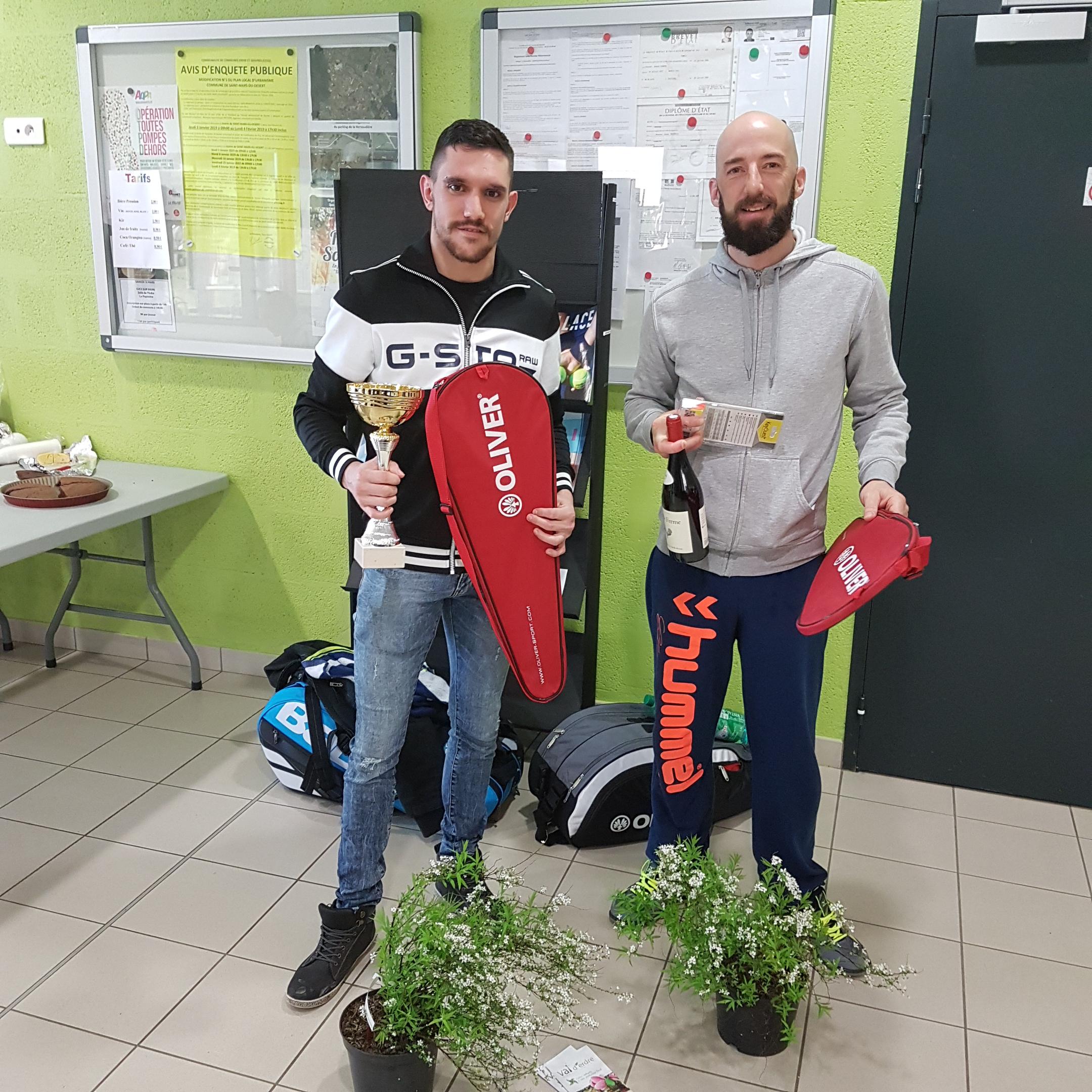 Double Hommes - Vainqueur Principale